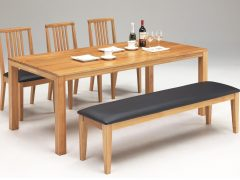 テーブル幅180㎝ チェア✕3脚 ベンチ幅155㎝