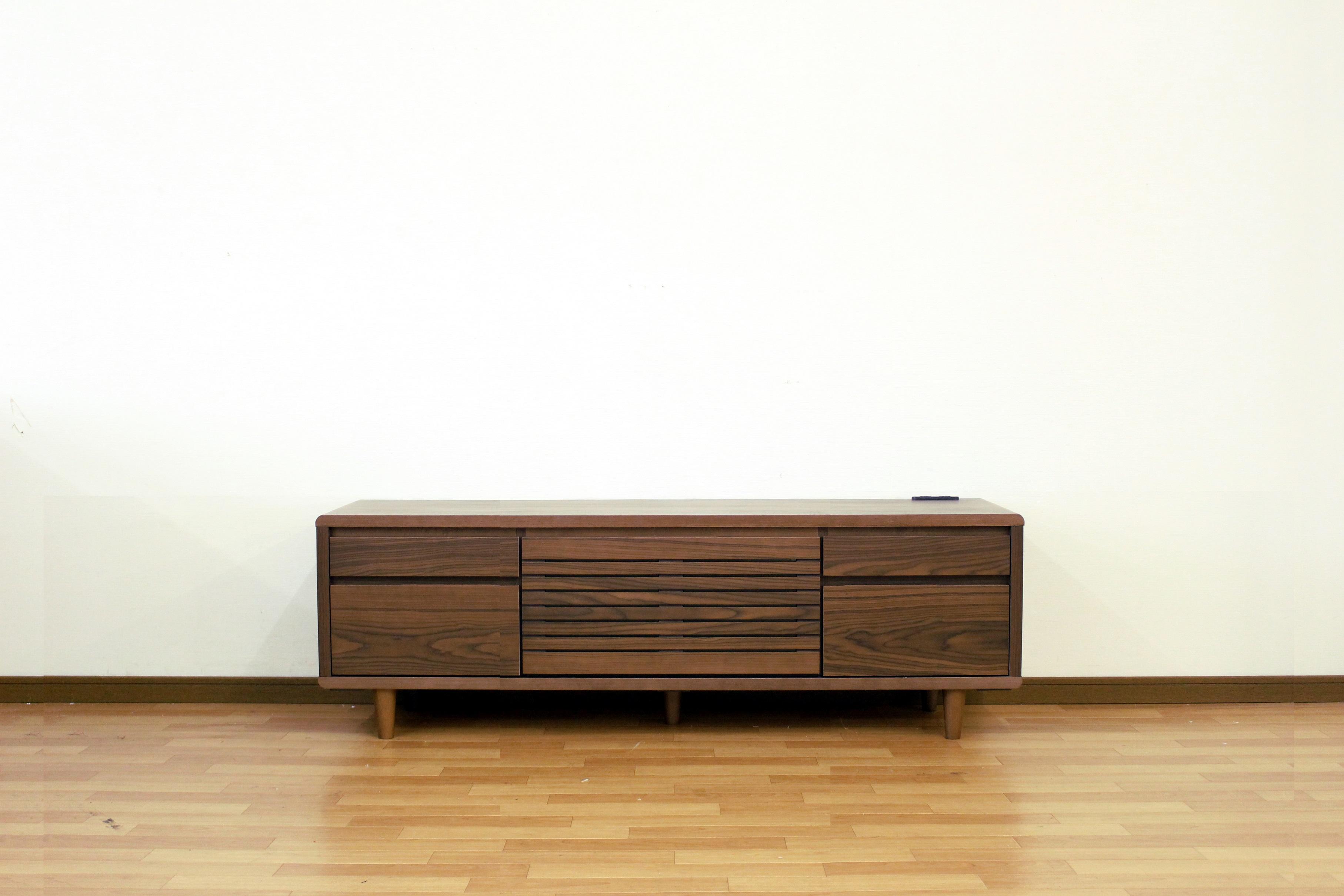TVボード140幅 ウォールナット色