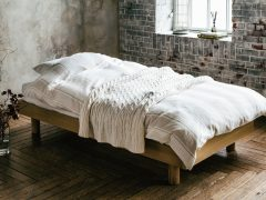 シングルヘッドレスベッド ウッドスプリング