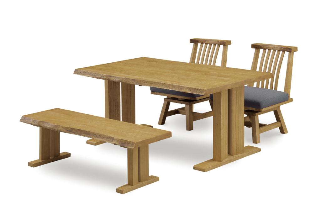 テーブル幅150㎝ ベンチ幅130㎝ 肘無✕2脚