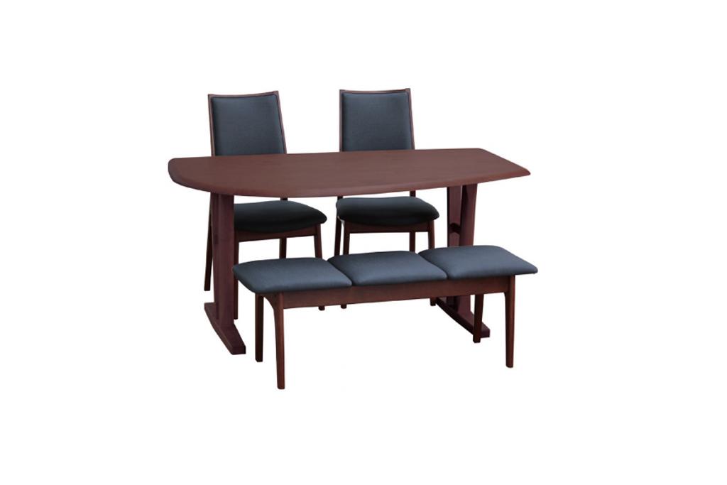 変形テーブル チェア✕2脚 ベンチ幅115㎝