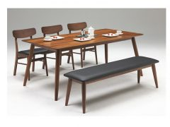 テーブル幅180㎝ チェア✕3脚 ベンチ幅150㎝