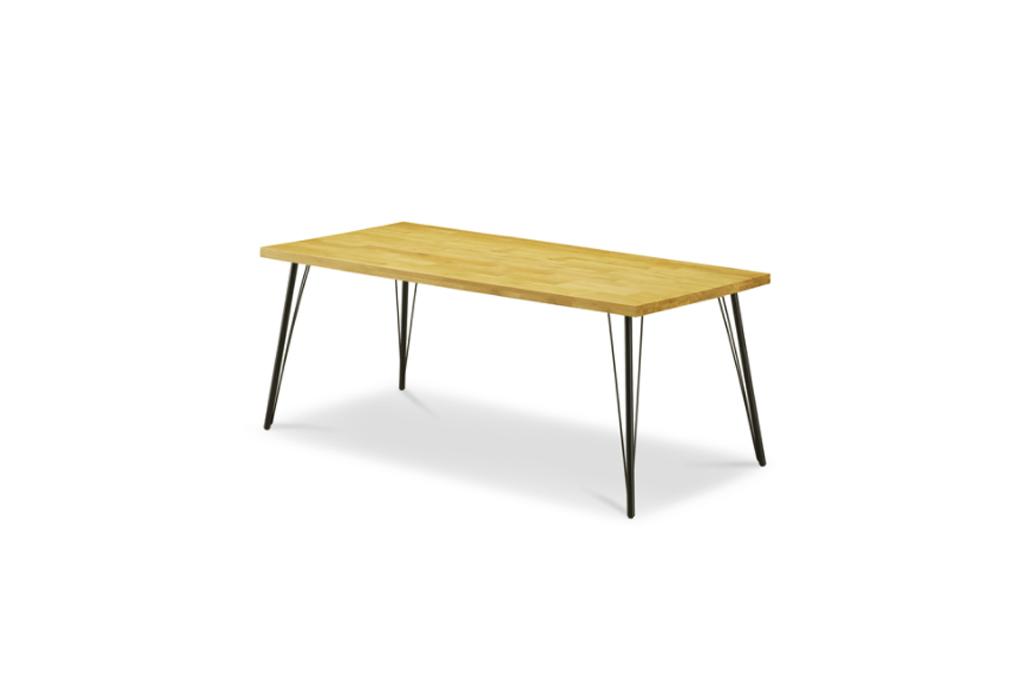 新サイズ180㎝幅テーブル オーク材