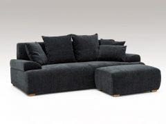 3人掛けソファ+スツール  ブラック色