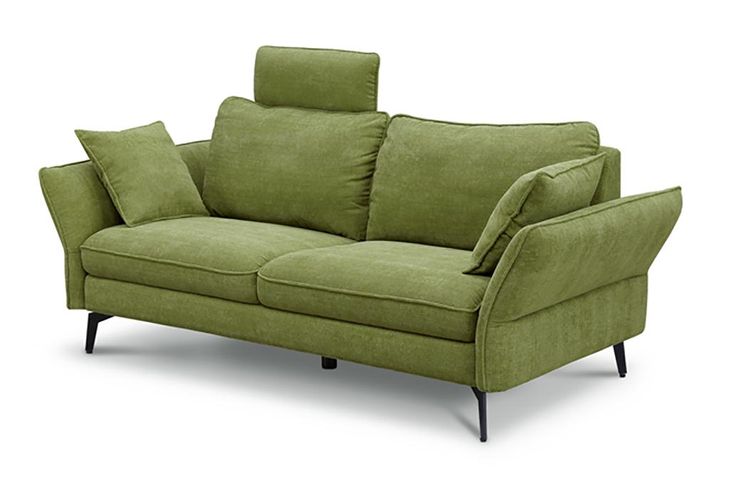 3人掛けソファ+別売りヘッドサポート グリーン色